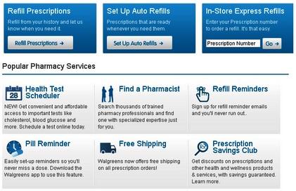 prescripción electrónica en Walgreens